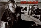 Sons of Anarchy Jackson TV Poster Print Kunstdruk geperst op hout