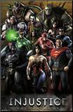 Injustice: Gods Among Us - Grid Mounted Print
