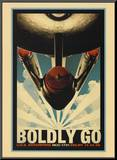 Star Trek Movie Boldly Go Poster Print Mounted Print