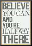 Believe You Can and You're Halfway There Poster Mounted Print
