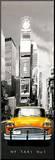 Times Square - NY Taxi No 1 Mounted Print