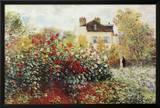 Claude Monet The Artist's Garden Art Print Poster Posters