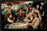 George Bungarda Lunch on the Party Boat Art Print Poster Impressão montada