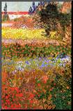 Vincent Van Gogh Flowering Garden Art Print Poster Mounted Print