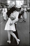 Beijo no Dia da Vitória sobre o Japão Impressão montada