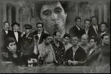 Gangsters Collage Godfather Goodfellas Scarface Sopranos Movie Poster Print Mounted Print