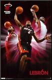 Heat - Lebron James Mounted Print