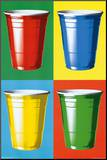 Party Cups Pop Art Mounted Print