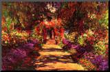 Claude Monet Path in Monet's Garden in Giverny Art Print Poster Mounted Print
