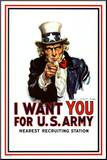 I Want You - Uncle Sam Mounted Print