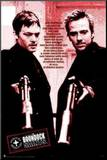 Boondock Saints Red Poem Mounted Print