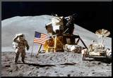 Moon Landing Salute Archival Photo Poster Print Mounted Print