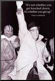 Vince Lombardi Get Back Up Quote Sports Archival Photo Poster Mounted Print