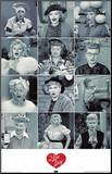 I Love Lucy Faces Mounted Print