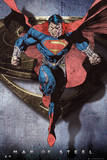 Superman Man of Steel - Comic Style Flying Prints