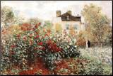 Claude Monet The Artist's Garden Art Print Poster Mounted Print