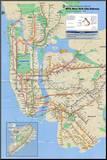 Metro w Nowym Jorku Umocowany wydruk