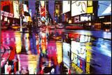 Times Square Colors Umocowany wydruk