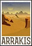 Arrakis Retro Travel Mounted Print