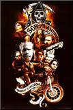 Sons of Anarchy Collage Mounted Print