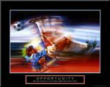 Opportunity: Soccer Mounted Print by Bill Hall