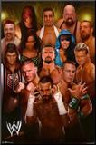 WWE Group 2012 Mounted Print
