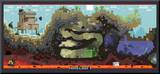 Minecraft Cross-Section Video Game Poster Mounted Print