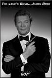 James Bond Roger Moore Movie Poster Print Mounted Print