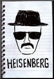 Heisenberg Sketch Poster Mounted Print