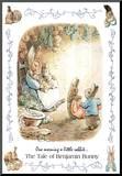 Beatrix Potter Benjamin Bunny Art Print Poster Mounted Print