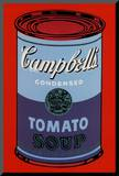 Campbell's Soup Can, 1965 (Blue and Purple) Monteret tryk af Andy Warhol