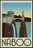 Naboo Retro Travel Mounted Print