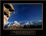 Perseverance: Cliffhanger Mounted Print