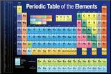 Periodic Table of the Elements Dark Blue Mounted Print