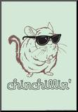 Chinchillin' Mounted Print by  Snorg Tees