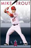 Los Angeles Angels of Anaheim Mike Trout Mounted Print