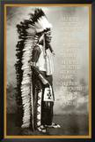 Chief White Cloud (Native American Wisdom) Art Poster Print Photo