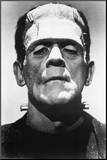 Frankenstein Movie (Boris Karloff, Close-Up) Poster Print Mounted Print
