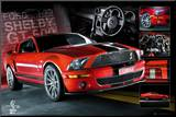 EASTON - Red Mustang Mounted Print