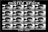 Star Trek - The Many Emotions of Mister Spock Mounted Print