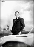 James Bond Skyfall - DB5 Kunstdruk geperst op hout