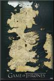 Game of Thrones - Map Mounted Print