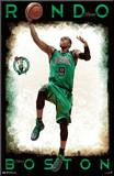 Rajon Rondo - Boston Celtics Mounted Print