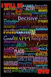 I Will Be (Motivational List) Art Poster Print Mounted Print