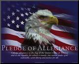Pledge of Allegiance Mounted Print
