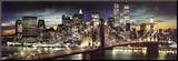 New York City - Manhattan Night Mounted Print