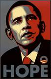 Barack Obama (Hope, Shepard Fairey Campaign) Art Poster Print Mounted Print