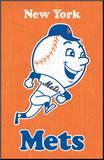 New York Mets Retro Logo Impressão montada