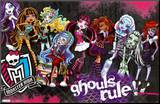 Monster High - Ghouls Rule Mounted Print