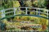 Claude Monet - Japonské jezírko vGiverny (Le Pont Japonais a Giverny) Reprodukce aplikovaná na dřevěnou desku